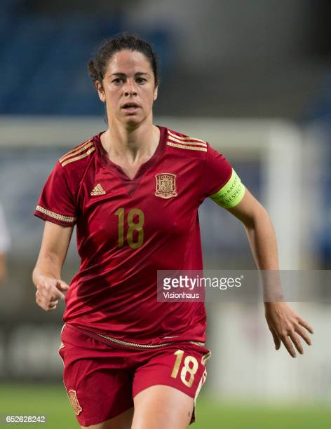 Marta Torrejón Moya of Spain during the 2017 Algarve Cup Final between Spain and Canada at the Estadio Algarve on March 08 2017 in Faro Portugal