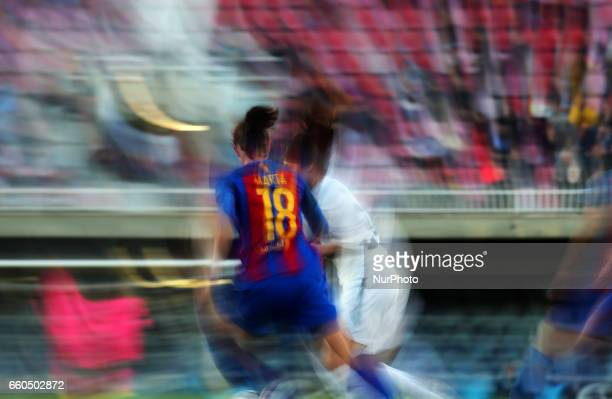 Marta Torrejon during the match between FC Barcelona and Rosengard corresponding to the 1/4 final of the UEFA womens Champions League on 29 march 2017