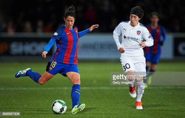 Marta Torrejon of FC Barcelona in action during the UEFA Women's Champions League match between Rosengard and FC Barcelona at Malmo Idrottsplats on...