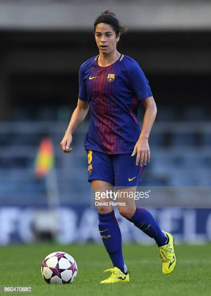 Marta Torrejon of FC Barcelona runs with the ball during the UEFA Womens Champions League round of 32 match between FC Barcelona and Avaldsnes at the...