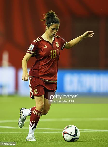 Marta Torrejon of Spain in action during the FIFA Women's World Cup 2015 group E match between Spain and Costa Rica at Olympic Stadium on June 9 2015...