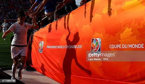Marta Torrejon of Spain is seen prior to the FIFA Women's World Cup 2015 Group E match between Korea Republic and Spain at Lansdowne Stadium on June...