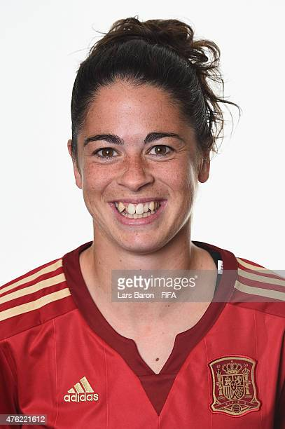 Marta Torrejon of Spain poses during the FIFA Women's World Cup 2015 portrait session at Sheraton Le Centre on June 6 2015 in Montreal Canada