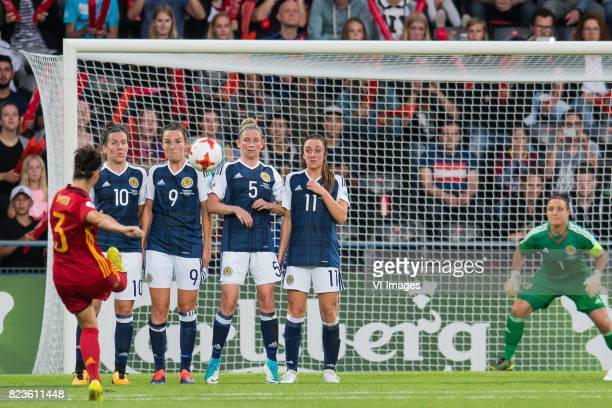 Marta Torrejon of Spain women Leanne Crichton of Scotland women Caroline Weir of Scotland women Leanne Ross of Scotland women Lisa Evans of Scotland...
