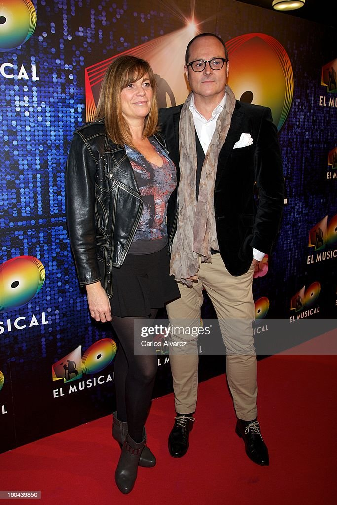 Marta Valverde attends '40 El Musical' premiere at the Rialto Theater on January 31, 2013 in Madrid, Spain.