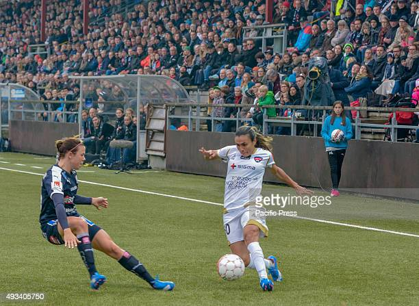 Marta Vieira da Silva in action FC Rosengård from Malmö beat Linköpings FC 50 in the last game of the season and thereby became champion for the...