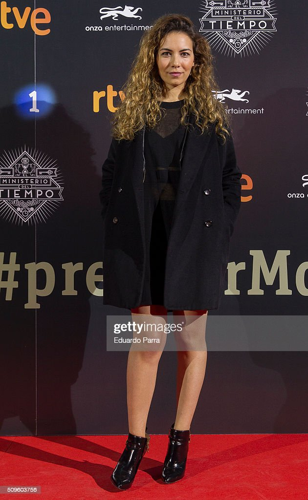 Marta Vives attends 'El Ministerio del Tiempo' second season premiere at Capitol cinema on February 11, 2016 in Madrid, Spain.
