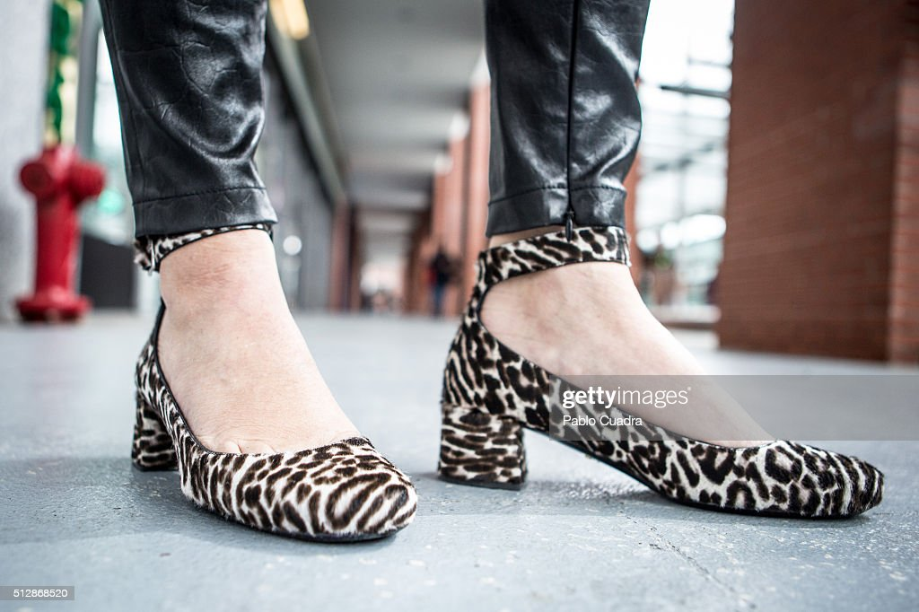 Marta wears Prada shoes Givenchy trousers Claudie Pierlot jacket Max Mara coat and Celine handbag on February 28 2016 in Madrid Spain