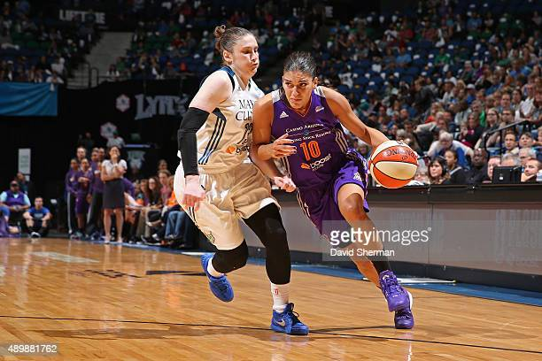 Marta Xargay Casademont of the Phoenix Mercury drives to the basket against the Minnesota Lynx during Game One of the WNBA Western Conference Finals...