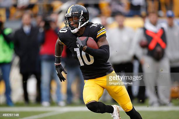 Martavis Bryant of the Pittsburgh Steelers carries the ball for a 4th quarter touchdown during the game against the Arizona Cardinals at Heinz Field...
