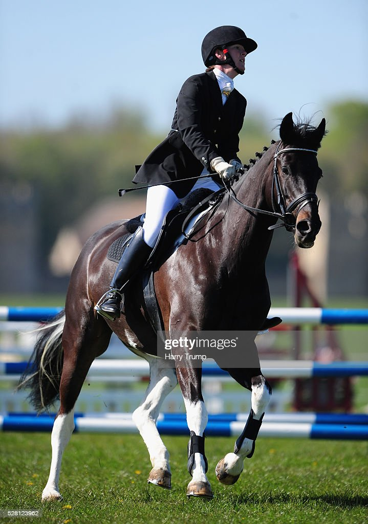 Martel ridden by Rachel Holden takes a jump during the Mitsubishi Motors Cup Showing Jumping during Day One of the Badminton Horse Trials on May 4, 2016in Badminton, Untied Kindom.