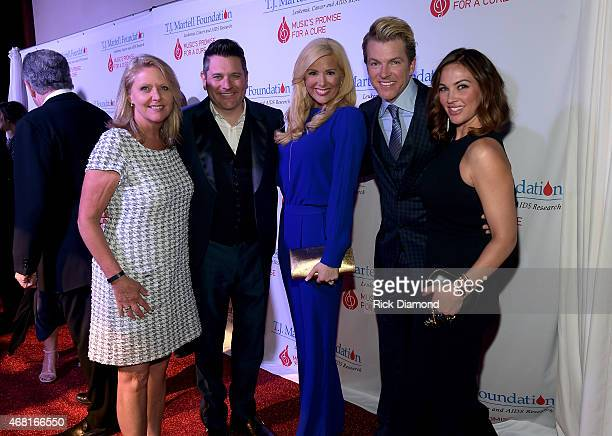 J Martell Foundation's Tinti Moffat Rascal Flatts' Jay DeMarcus Allison DeMarcus Rascal Flatts' Joe Don Rooney and Tiffany Fallon attend the TJ...