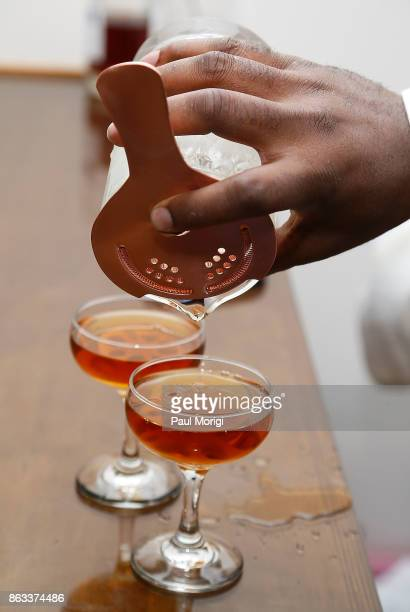 Martell Lotus Bomb cocktails being made with Martell Cordon Bleu at the HOME by Martell event on October 19 2017 in Washington DC