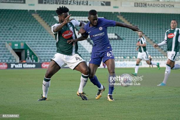 Martell TaylorCrossdale of Chelsea during the Checkatrade Trophy match at Home Park on August 15 2017 in Plymouth England