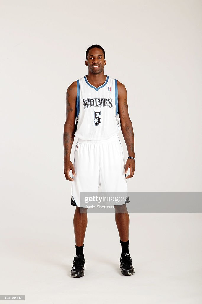 <a gi-track='captionPersonalityLinkClicked' href=/galleries/search?phrase=Martell+Webster&family=editorial&specificpeople=601785 ng-click='$event.stopPropagation()'>Martell Webster</a> #5 of the Minnesota Timberwolves poses for a portrait during 2010 NBA Media Day on September 24, 2010 at Lifetime Fitness Training Center in the Target Center in Minneapolis, Minnesota.