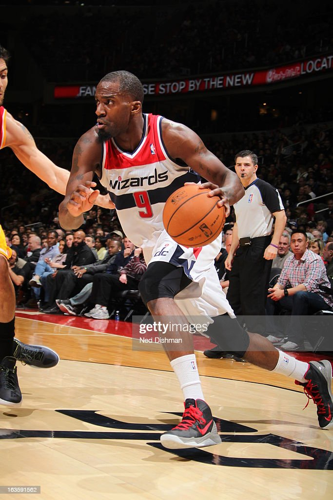 <a gi-track='captionPersonalityLinkClicked' href=/galleries/search?phrase=Martell+Webster&family=editorial&specificpeople=601785 ng-click='$event.stopPropagation()'>Martell Webster</a> #9 of the Washington Wizards drives to the basket against the Houston Rockets during the game at the Verizon Center on February 23, 2013 in Washington, DC.