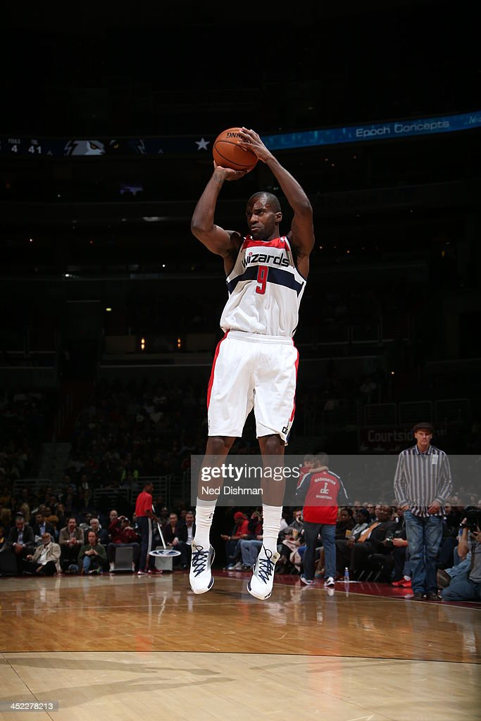 <a gi-track='captionPersonalityLinkClicked' href=/galleries/search?phrase=Martell+Webster&family=editorial&specificpeople=601785 ng-click='$event.stopPropagation()'>Martell Webster</a> #9 of the Washington Wizards shoots a three pointer against the Minnesota Timberwolves during the game at the Verizon Center on November 19, 2013 in Washington, DC.