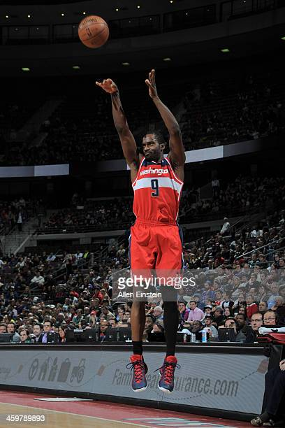 Martell Webster of the Washington Wizards shoots against the Detroit Pistons on December 30 2013 at The Palace of Auburn Hills in Auburn Hills...