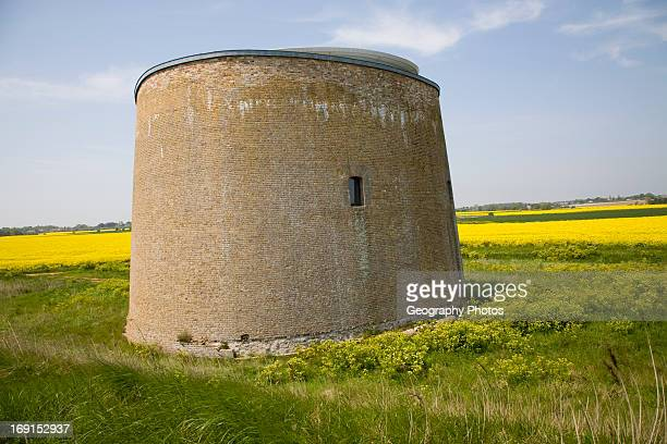 Martello tower in marshes converted to house Bawdsey Suffolk England