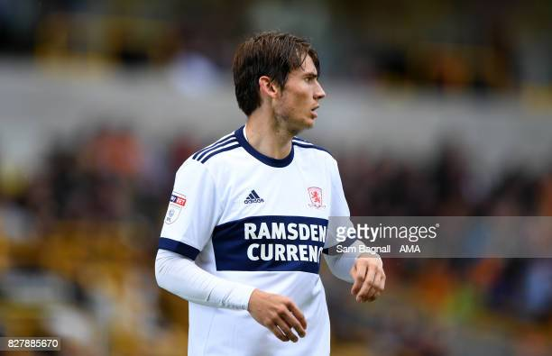Marten de Roon of Middlesborough during the Sky Bet Championship match between Wolverhampton and Middlesbrough at Molineux on August 5 2017 in...
