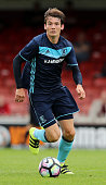 Marten de Roon of Middlesbrough breaks with the ball during the pre season friendly match between York City and Middlesbrough at Bootham Crescent on...