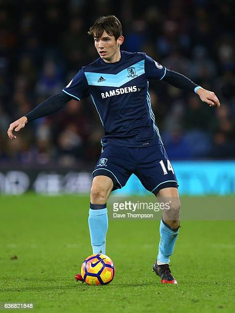 Marten de Roon of Middlesbrough during the Premier League match between Burnley and Middlesbrough at Turf Moor on December 26 2016 in Burnley England