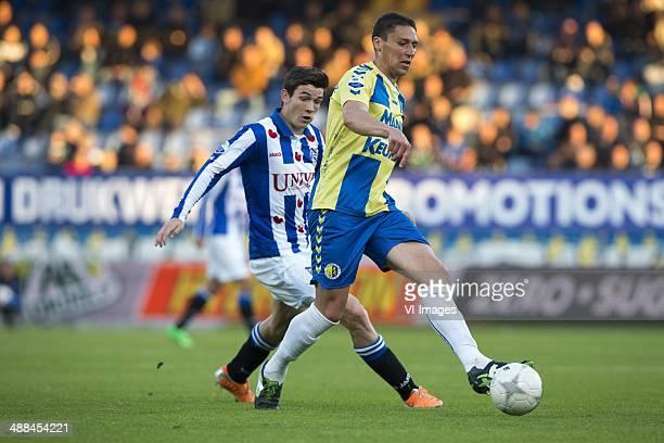 Marten de Roon of sc Heerenveen Jonas Ivens of RKC Waalwijk during the Dutch Eredivisie match between RKC Waalwijk and sc heerenveen at Mandemakers...