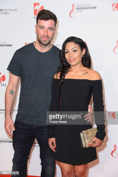 Marten Laciny and his wife Jadula Laciny attend the 9th GEMA Musikautorenpreis at Ritz Carlton Hotel on March 30 2017 in Berlin Germany