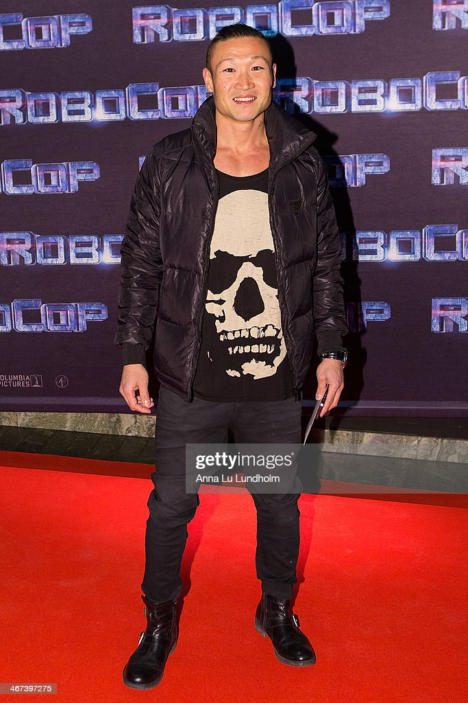 Marten Nylen attends the Stockholm premiere of 'Robocop' at Rigoletto on February 6, 2014 in Stockholm, Sweden.
