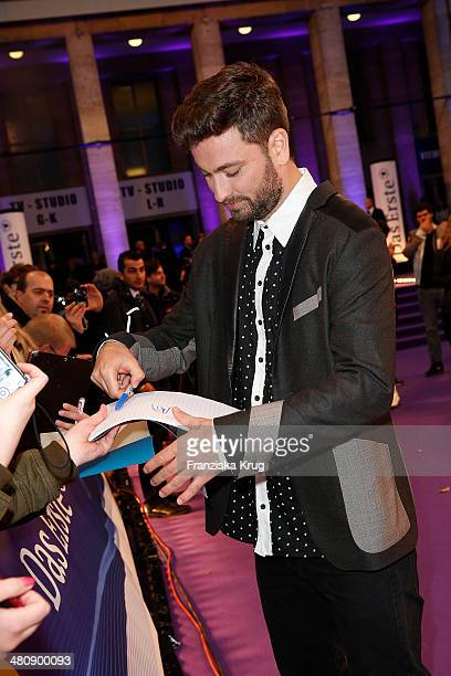 Marteria poses on the red carpet prior the Echo award 2014 on March 27 2014 in Berlin Germany
