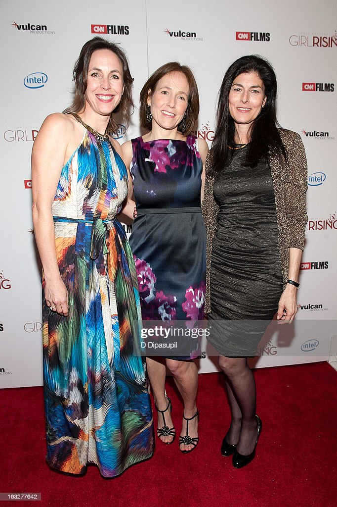 Martha Adams, Holly Gordon, and Kayce Freed Jennings attend the 'Girl Rising' premiere at The Paris Theatre on March 6, 2013 in New York City.