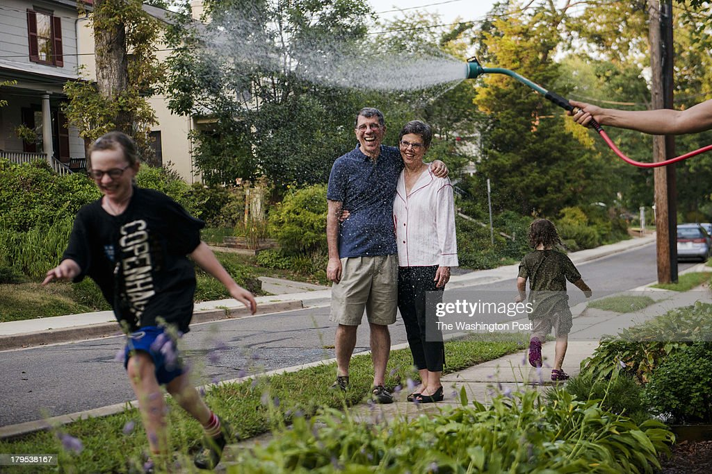 MD Martha and Elliott Andalman right parents of filmmaker David Andalman are seen outside their home in the neighborhood where much of David's movie...