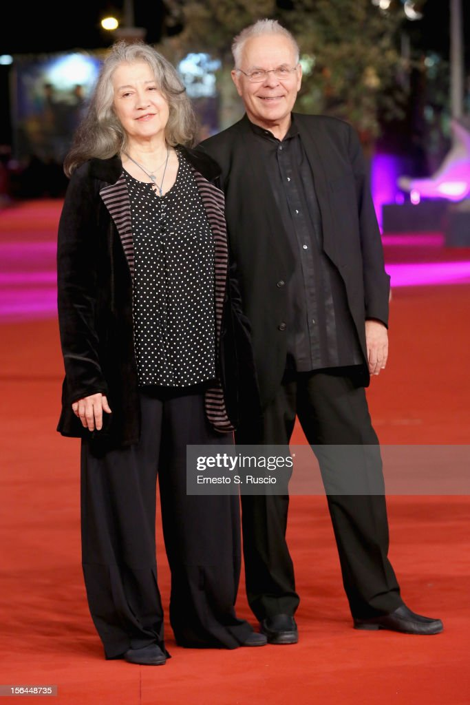 Martha Argerich and Stephen Kovacevich attend the 'Bloody Daughter' Premiere during the 7th Rome Film Festival at the Auditorium Parco Della Musica on November 15, 2012 in Rome, Italy.