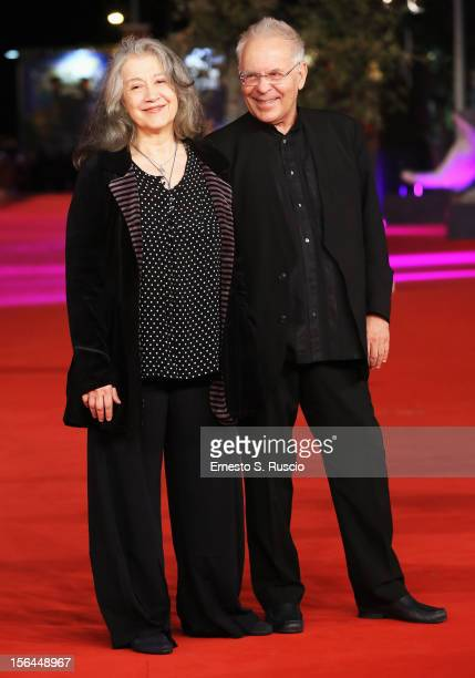 Martha Argerich and Stephen Kovacevich attend the 'Bloody Daughter' Premiere during the 7th Rome Film Festival at the Auditorium Parco Della Musica...