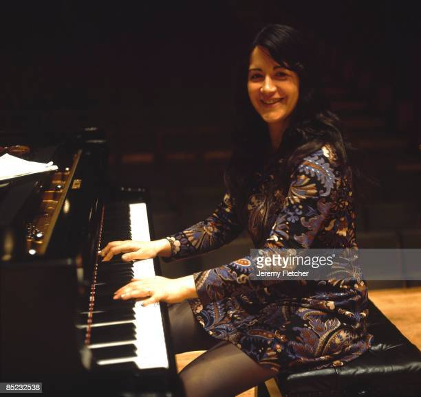 Martha Argerich portrait playing the piano at Fairfield Halls Croydon UK December 1970