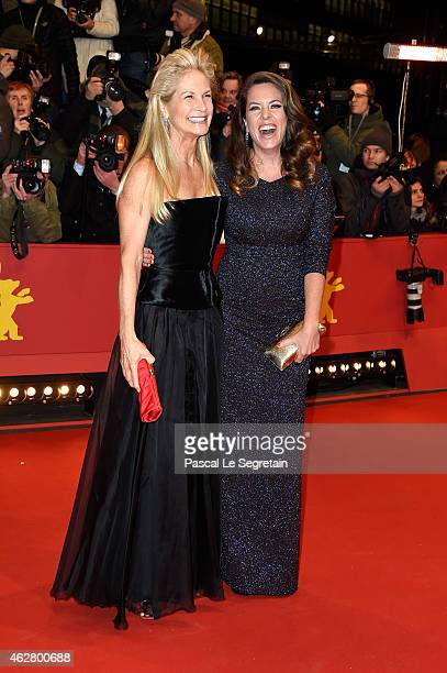 Martha De Laurentiis and Claudia Llosa attend the 'Nobody Wants the Night' premiere and Opening Ceremony of the 65th Berlinale International Film...