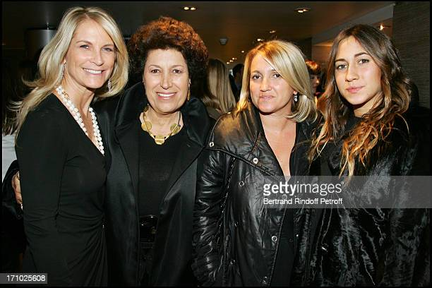 Martha De Laurentiis Carla Fendi sister Silvia and daughter Delfina Premiere of the movie 'Hannibal Rising' at the Charles Louis Havas space in...
