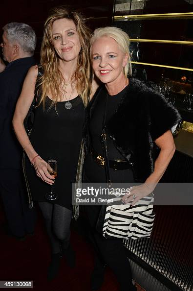 Martha Fiennes and Amanda Eliasch attend the Liberatum Cultural Honour for Francis Ford Coppola at The Bulgari Hotel on November 17 2014 in London...