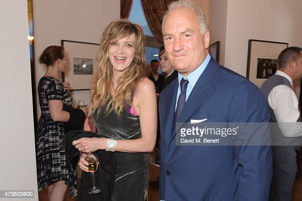 Martha Fiennes and Charles Finch attend as Charles Finch hosts his annual Filmmakers Dinner and photographic exhibition in celebration of 'The Art Of...