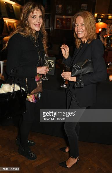 Martha Fiennes and Georgia Byng attend the launch of 'The Night Before BAFTA' by Charles Finch at Maison Assouline on February 3 2016 in London...