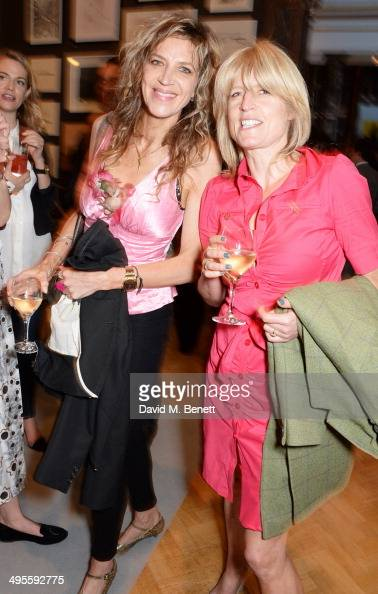 Martha Fiennes and Rachel Johnson attend the Royal Academy Summer Exhibition preview party at the Royal Academy of Arts on June 4 2014 in London...