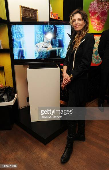 Martha Fiennes attends the party where the Shanghai Tang store unveil art by Martha Fiennes to celebrate Chinese New Year at Shanghai Tang on...