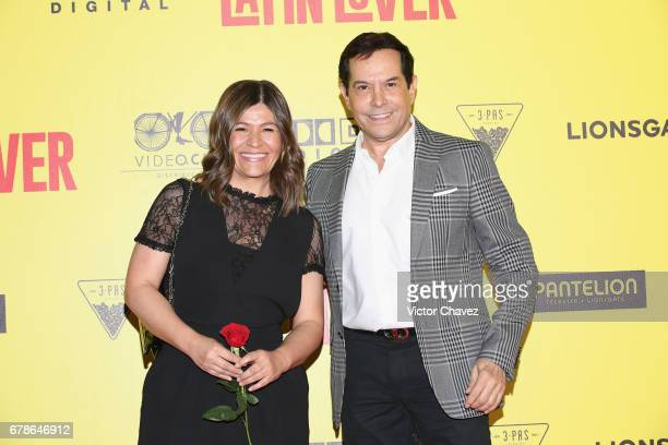 Martha Figueroa and Juan Jose Origel attend the 'How To Be A Latin Lover' Mexico City premiere at Teatro Metropolitan on May 3 2017 in Mexico City...
