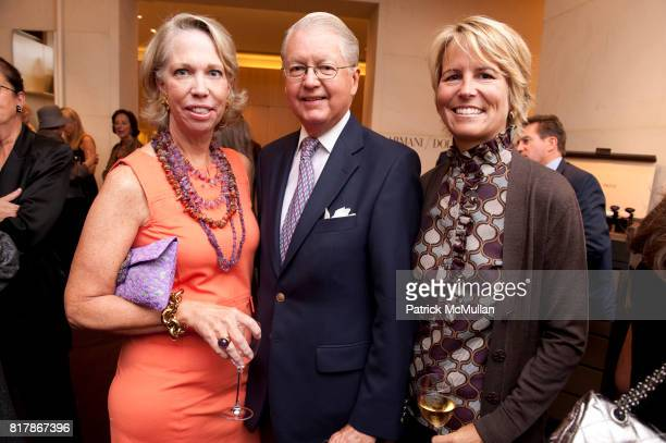 Martha Glass Peter Jones and Leslie Jones attend Kick off Party for MEMORIAL SLOANKETTERING CANCER CENTER Antiques Show at Giorgio Armani Boutique on...