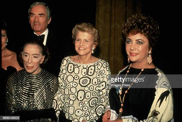 Martha Graham Gregory Peck Betty Ford and Elizabeth Taylor attend the Opening Night Gala of the Martha Graham Dance Company's 3week season of...
