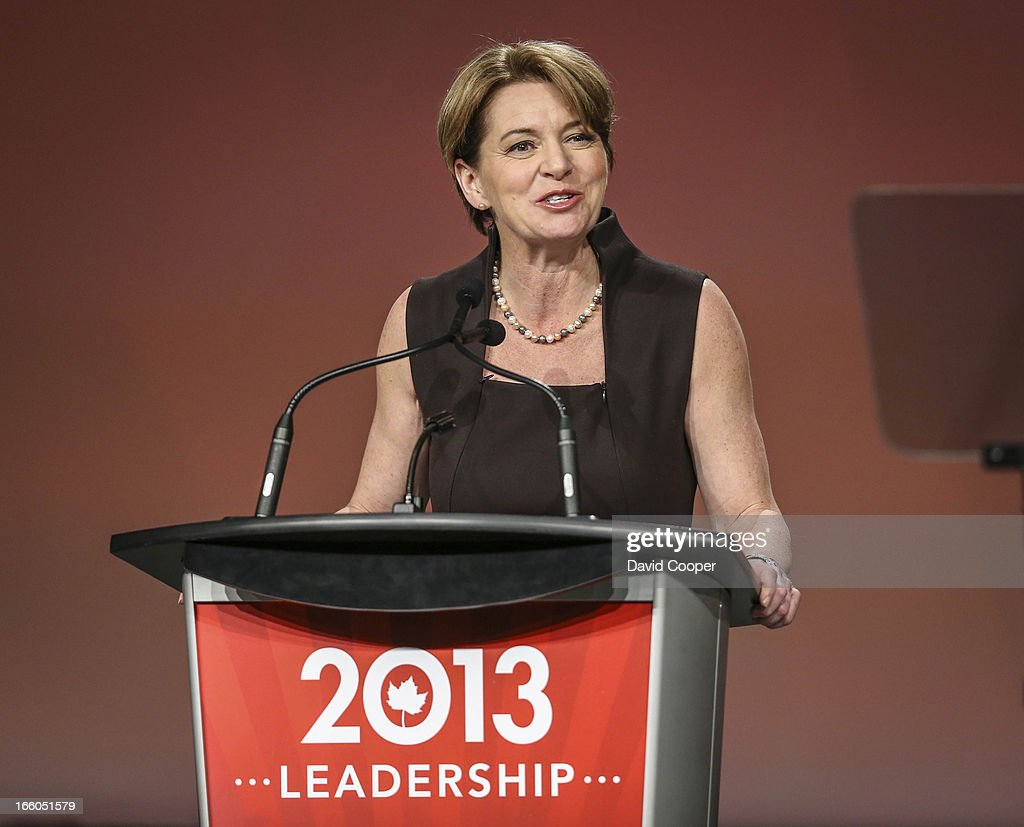 Martha Hall Findlay addresses the crowd at the federal Liberal showcase at the Metro Toronto Convention Centre.