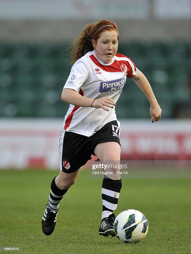 Martha Harris of Lincoln Ladies during the FA WSL match between Lincoln Ladies FC and Arsenal Ladies FC at the Sincil Bank Stadium on May 15, 2013 in Lincoln, England