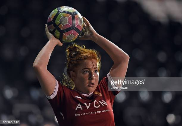 Martha Harris of Liverpool in action during the WSL match between Liverpool Ladies and Birmingham City Ladies at Select Security Stadium on November...