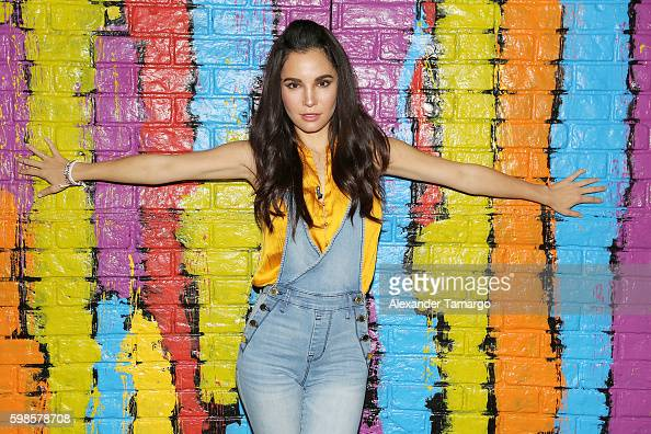 Martha Higareda is seen on the set of 'Despierta America' to promote the film 'No Manches Frida' at Univision Studios on September 1 2016 in Miami...