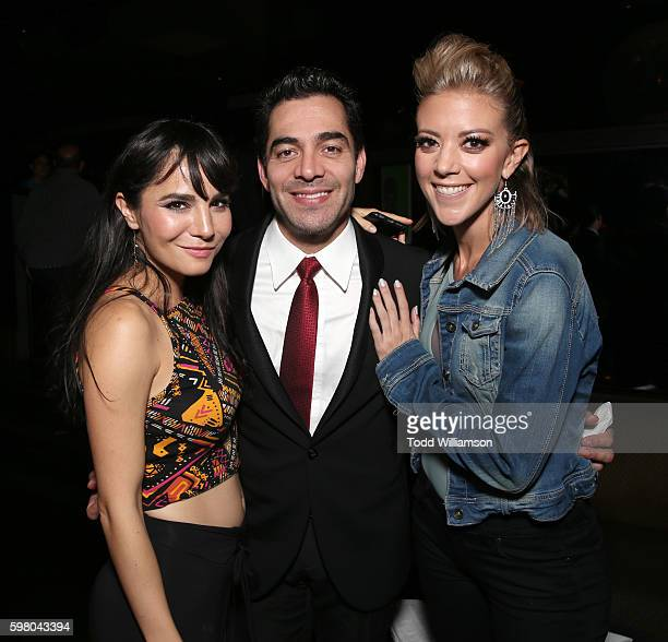 Martha Higareda Omar Chaparro and Fernanda Castillo attend the after party for the World Premiere of Pantelion's 'No Manches Frida' on August 30 2016...